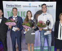 Sportler des Jahres wurde Cindy Kammler Rhöner WSV gefolgt von Colin Sauerbrei (1. TSV Bad Salzungen und Jakob Otto (Medizin Bad Liebenstein).