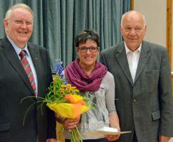 Auszeichnung Jutta Wagner mit der GutsMuths Ehrenplakette in Silber