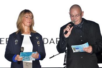 Silvia Bergner (Leiterin Lesermarkt) und Ike Darr (Vorsitzender KSB) bei der Eröffnung.