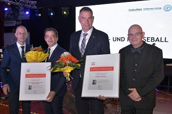 Die Wartburg Sparkasse und Uhren & Schmuck Schlegel wurden als Förderer des Kinder- und Jugendsports ausgezeichnet.