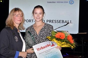 Lea Katzmarski erbrachte die wertvollst Leistung unter den Nachwuchssportlern.