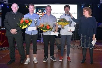 Nachwuchsportler des Jahres: Jonathan Enders (1. TSV Bad Salzungen), 2. Platz: Hannes Trier (JC Kogatan Bad Salzungen), 3. Platz: Leon Frank (SV Medizin Bad Liebenstein)